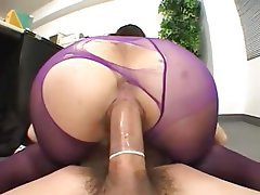 Asian, Cumshot, Old and Young, Stockings