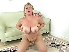 British, Mature, Mature, MILF, Pantyhose, Orgasm