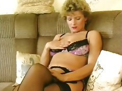 Masturbation, Mature, Pantyhose, Orgasm
