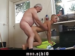 Blonde, Blowjob, Old and Young, Teen