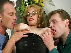 Big Boobs, MILF, Russian, Threesome